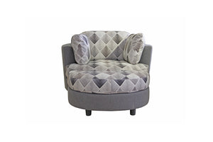 Mandalay Fabric Swivel Chair and Ottoman
