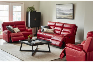 Ariston 3 Piece Leather Electric Recliner Suite