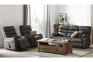 E-Z-Way Arizona 3 Piece Leather Recliner Suite