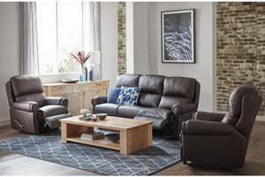 Ascot 3 Piece Leather Recliner Suite
