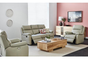 Bailey 3 Piece Leather Recliner Suite