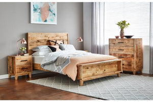 Botanical Queen Bed with Bookshelf Footend