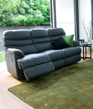 La-Z-Boy Cortland Leather 3 Seater with end Recliners