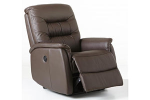 E-Z-Way Leo Leather Electric Recliner