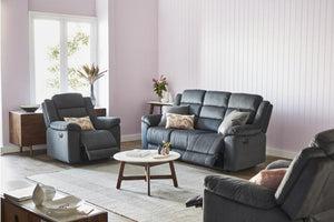 Eckles Fabric 3 Piece Electric Recliner Suite