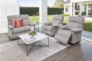 La-Z-Boy Eden Fabric 2 Seater with 2 x Rocker Recliners