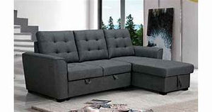 Gabby Fabric Lounge with Sofabed and Storage Chaise