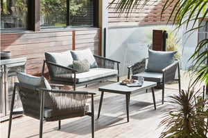 Willem 4 Piece Outdoor Lounge Set