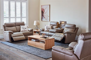 Carlos 3 Seater Leather Electric Motion Sofa