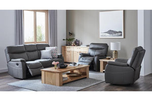 Houston 3 Piece Leather Recliner Suite