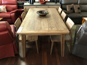 Ascension Dining Setting - American Oak Hardwood Veneer with Timber Seats