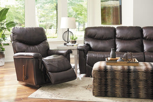 La-Z-Boy James Leather 3 Seater with 2 x Rocker Recliners
