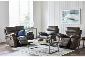 Jardine 3 Piece Leather Recliner Suite