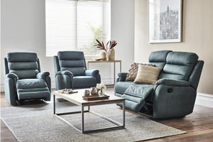 Jonas 3 Piece Fabric Recliner Suite