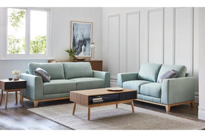 Lawrence Fabric 2.5 Seater and 2 Seater Sofa Pair