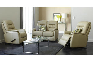 E-Z-Way Leo 3 Piece Leather Recliner Suite