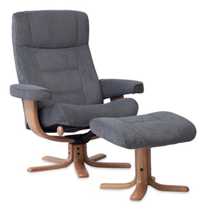 IMG Loki Fabric Chair and Ottoman
