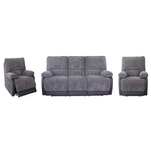 Manhattan 3 seater with end recliners and 2 recliners fabric