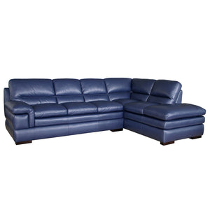 Moreton Leather 3 Seater and right hand facing chaise