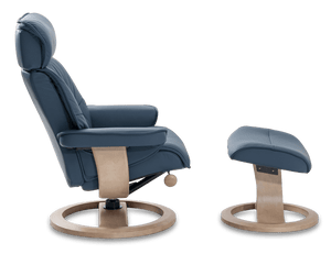 IMG Nordic 93 Leather Chair and Ottoman