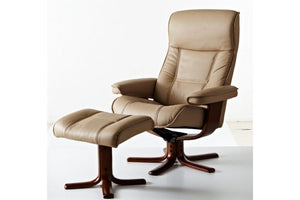 IMG Nordic 21 Large Leather Chair and Ottoman