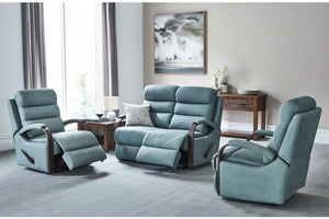 Princeton 3 Piece Fabric Recliner Suite