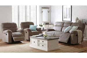 Raegon 3 Piece Fabric Recliner Suite