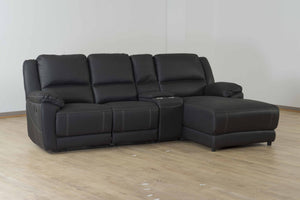 Silverton Fabric Home Theatre with Console and Chaise