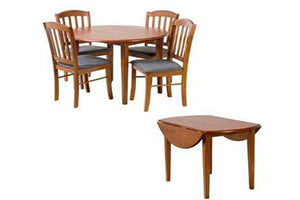 Simpson 5 Piece timber extension Dining Setting with timber chairs