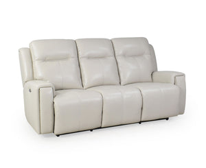 La-Z-Boy United Leather 3 Seater Twin Power Recliner with Adjustable Headrests and USB Ports