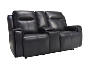 La-Z-Boy United Leather Twin Power Reclining 2.5 Seater with console