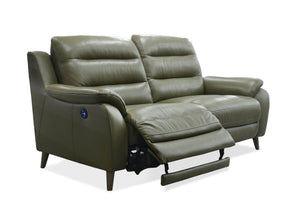 La-Z-Boy Vermont Leather 2.5 Seater Twin Power Recliner with Adjustable Headrests