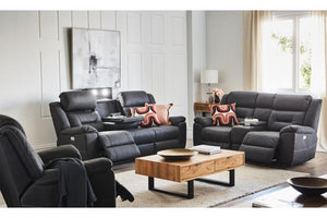 Waldorf Fabric Electric Recliner Suite