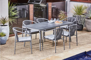 Willem 7 Piece Outdoor Dining Setting