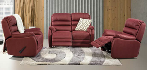 Wisconsin 3 Piece Fabric Recliner Suite
