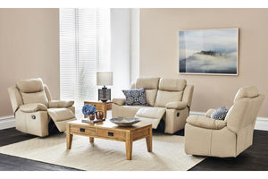 Xavier 3 Piece Leather Recliner Suite
