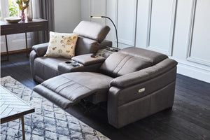 Zen 2.5 Seater Fabric Electric Motion Sofa with Console