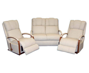 La-Z-Boy Harbor Town Leather 2 Seater with 2 x Rocker Recliners