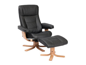 IMG Loki Leather Chair and Ottoman