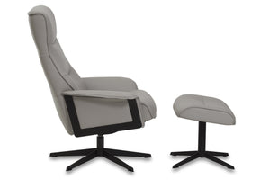 IMG Scandi 1000 Leather Chair and Ottoman