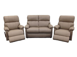 La-Z-Boy Summit Leather 2 Seater with 2 x Rocker Recliners