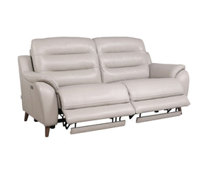 La-Z-Boy Vermont Leather 3 Seater Twin Power Recliner with Adjustable Headrests