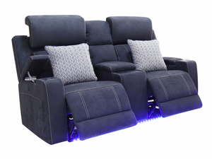 Zane Fabric 2 Seater Electric Sofa with Console