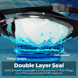 Aqua Goggles With Mirrored Lenses