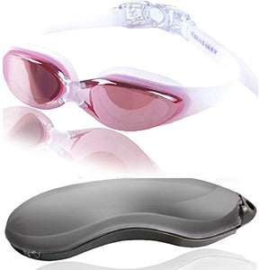 Red/Pink Goggles With Mirrored Lenses