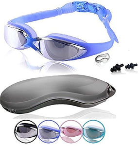 Blue Goggles With Mirrored Lenses