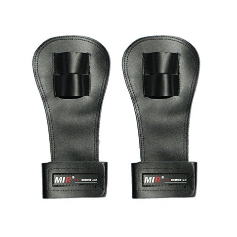 Mir Crossfit Leather Palm Protectors Hand Grips Glove Gymnastic Grips (PAIR)