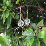 Crystal Quartz Rounds Earring