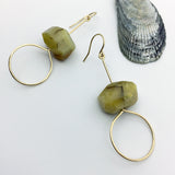 Yellow Opal Earring