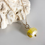 #042 - Yellow Opal Necklace - Wholesale